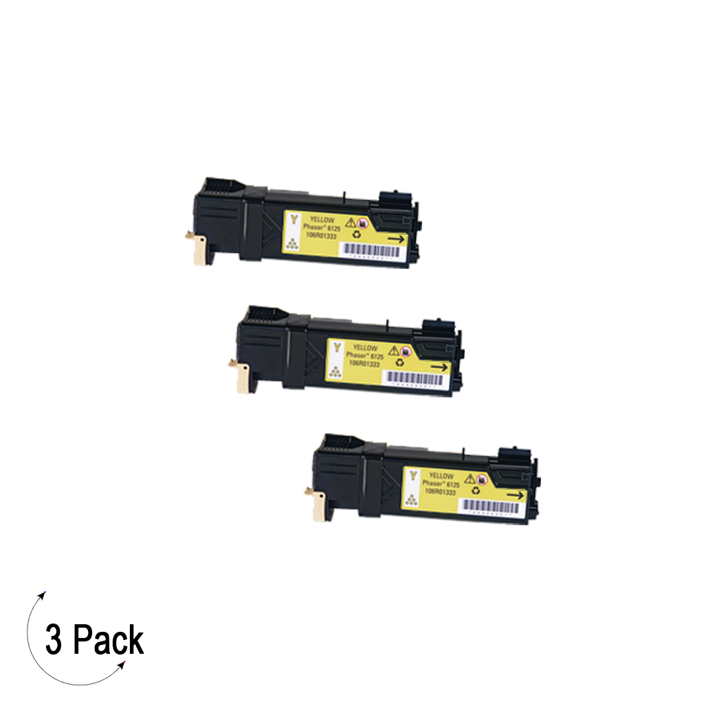 Compatible Xerox 106R01333 Yellow -Toner 3 Pack (106R01333)