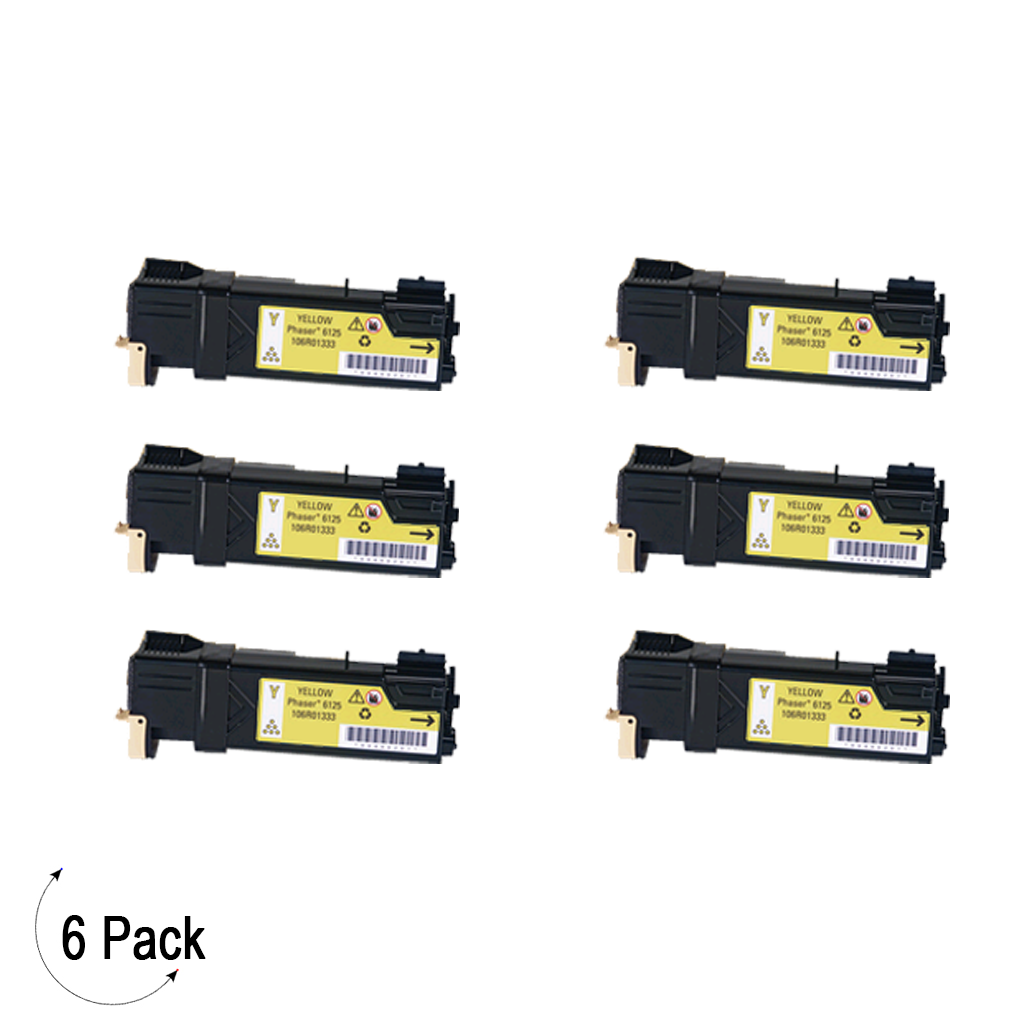 Compatible Xerox 106R01333 Yellow -Toner 6 Pack (106R01333)