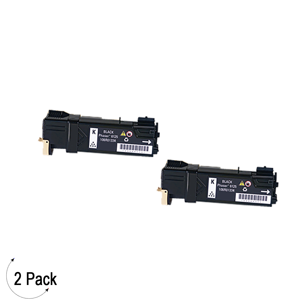 Compatible Xerox 106R01334 Black -Toner 2 Pack (106R01334)
