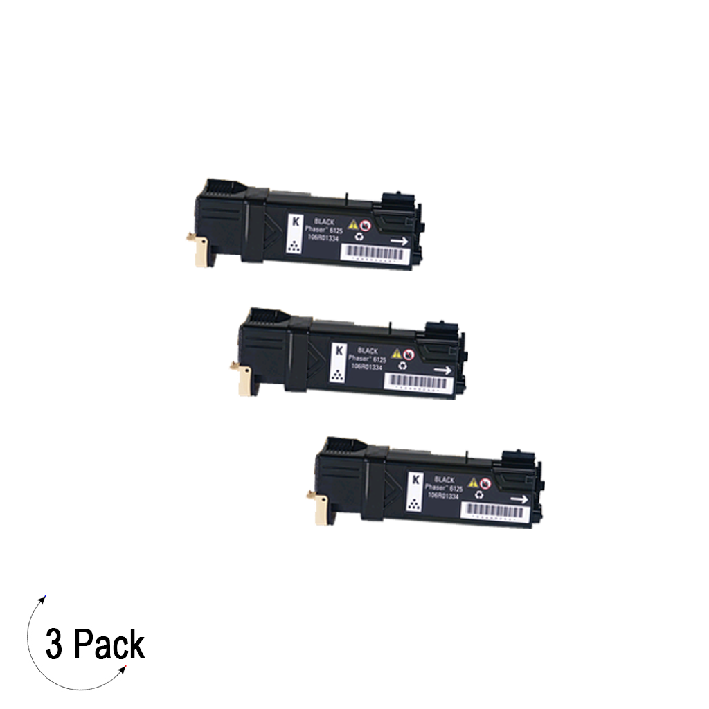 Compatible Xerox 106R01334 Black -Toner 3 Pack (106R01334)