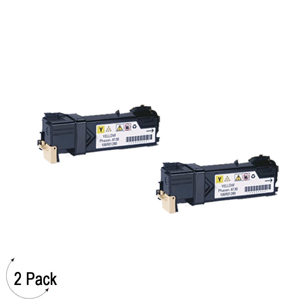 Compatible Xerox 106R01454 Yellow -Toner 2 Pack (106R01454)