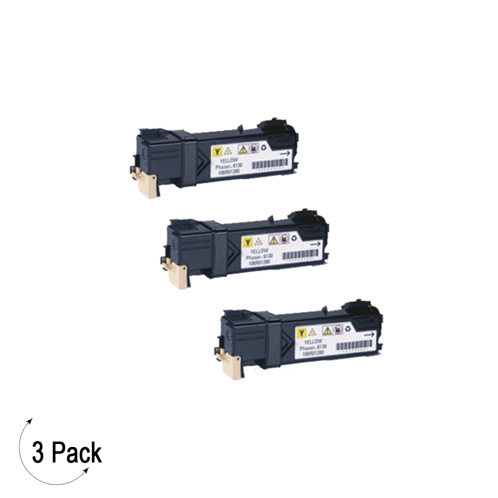 Compatible Xerox 106R01454 Yellow -Toner 3 Pack (106R01454)