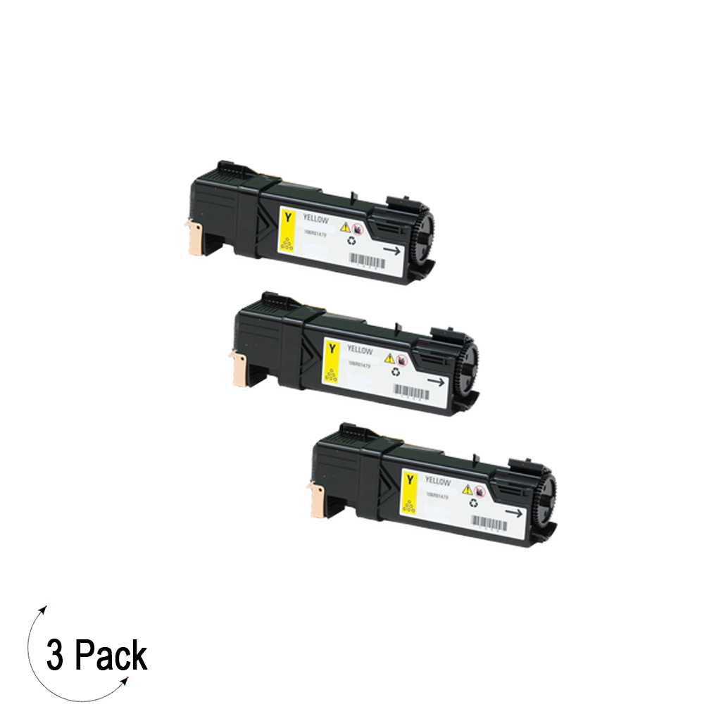 Compatible Xerox 106R01479 Yellow -Toner 3 Pack (106R01479)