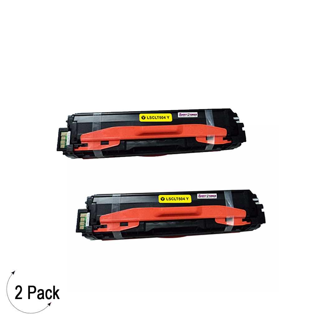 Compatible Samsung CLT Y504S Yellow -Toner 2 Pack  (CLT-Y504S)