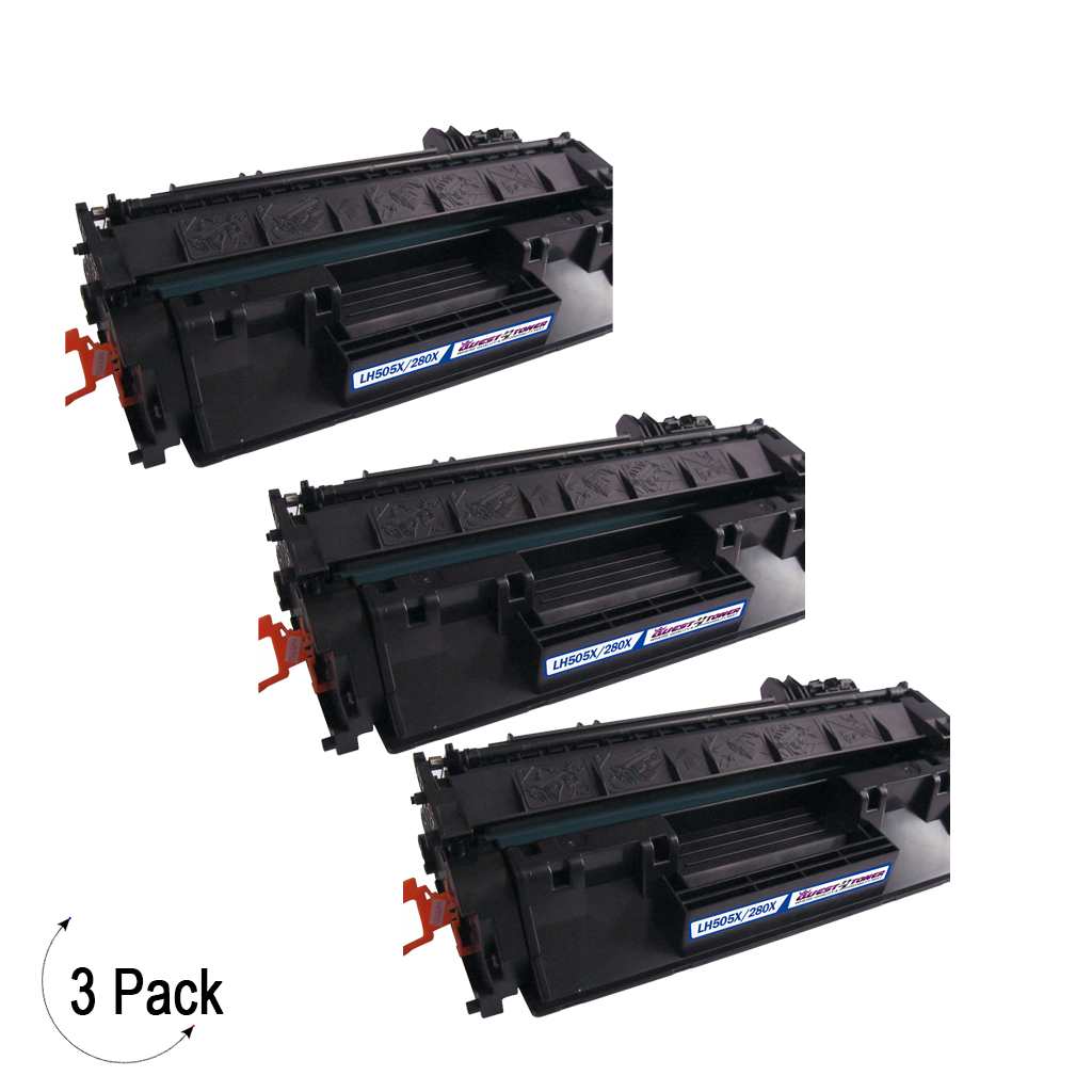 Compatible HP 80X Black -Toner 3 Pack (CF280X)