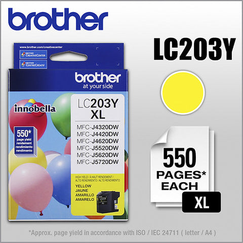 Brother LC 203 Yellow -original Ink