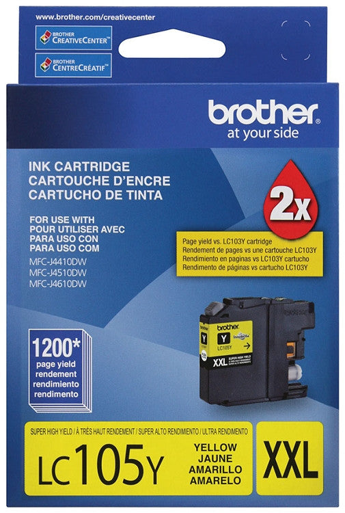 Brother LC 105 Yellow -original Ink