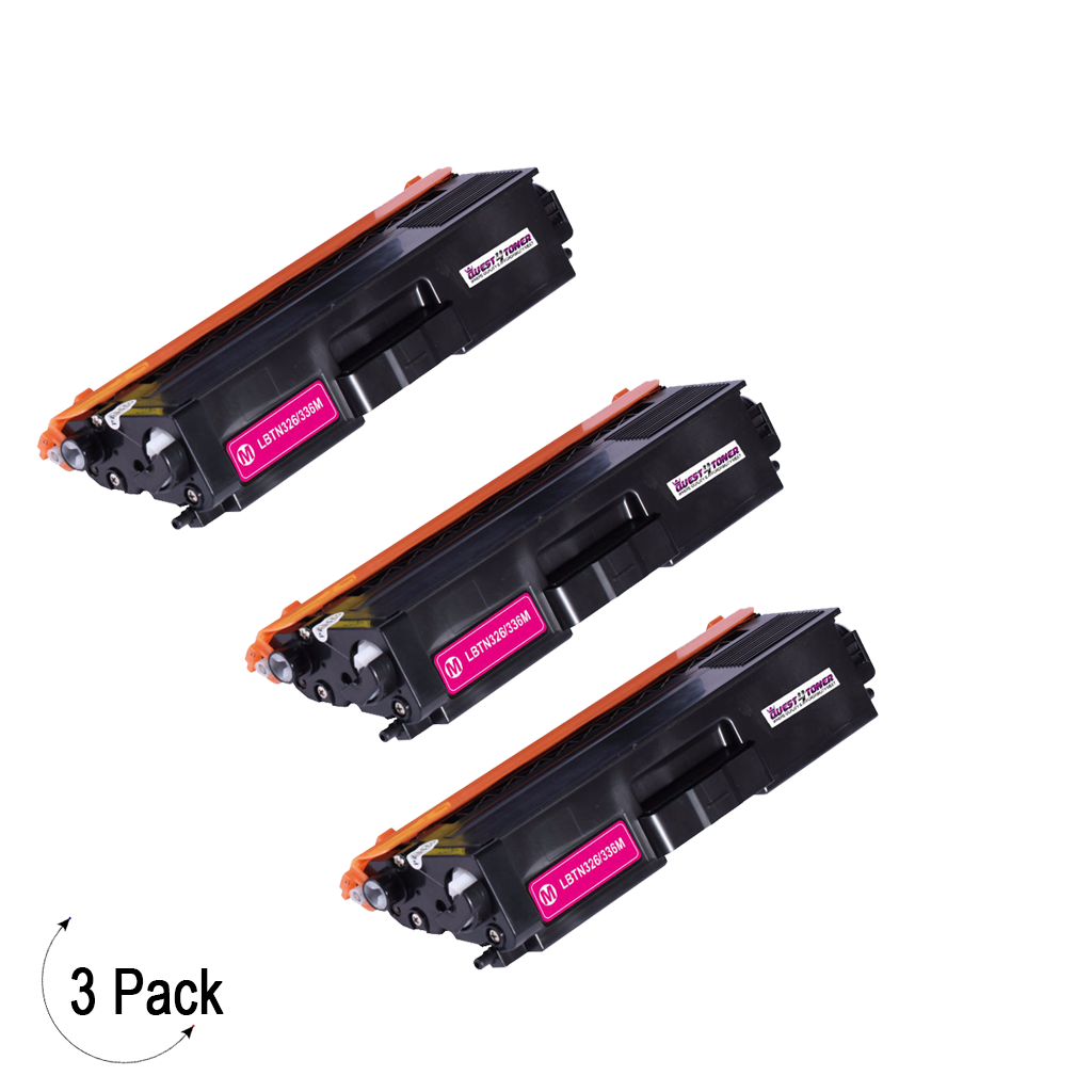 Compatible Brother TN 336 Magenta Toner 3 Pack