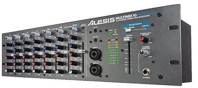 Alesis MultiMix 10 Wireless,10-Channel Rackmount Mixer with Bluetooth Antenna