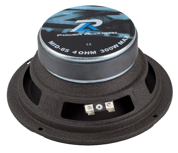 "Power Acoustik MID-65 300-Watt 6.5"" Midrange/Bass Driver Speaker ( single )"