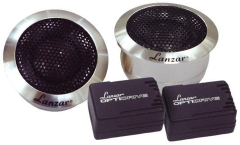 "Lanzar OPTITW Optidrive 1"" Titanium Dome Tweeters w/Aluminum Housing ( pair )"