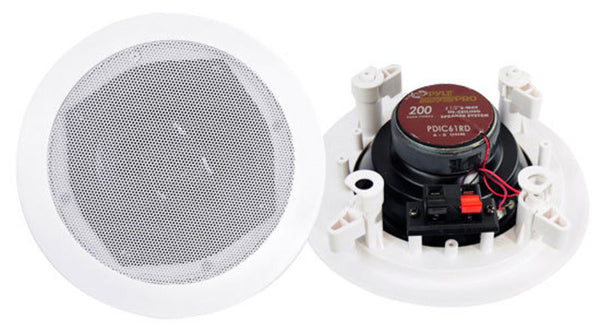"Pyle PDIC61RD 6.5"" Two-Way In-Ceiling Speaker System ( pair )"