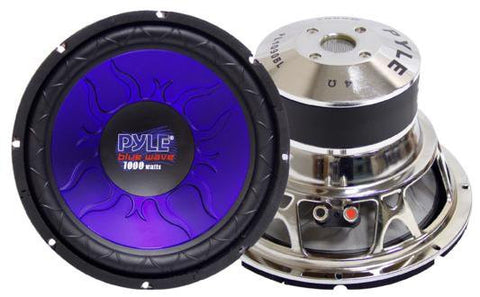 "Pyle PL1290BL 12"" 1200-watt DVC Car Subwoofer Blue Basket"
