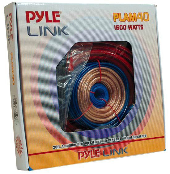 Pyle PLAM40 20ft 4 Gauge 1600-watt Amplifier Installation Kit