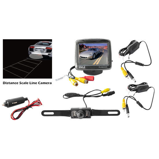 "Pyle PLCM34WIR 3.5"" Monitor Wireless Back-Up Rearview, Camera System"