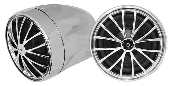"Pyle PLMCS32 2.25"" Motorcycle Mount Handlebar Mount Speakers ,Chrome-pair"