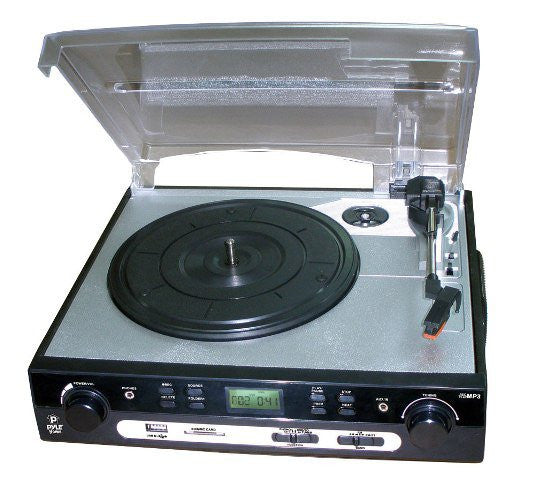 Pyle PLTTB9U USB Turntable with direct-to-digital USB/SD Card Encoder & Built-in