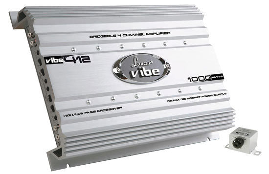Lanzar VIBE412 Vibe 1000 Watt 4 Channel Mosfet Amplifier