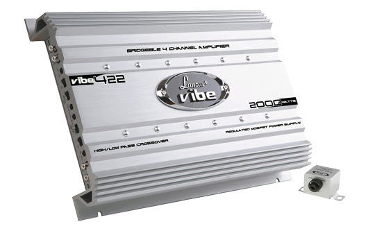 Lanzar VIBE422 Vibe 2000 Watt 4 Channel Mosfet Amplifier