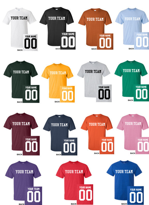 8a1ca472d CUSTOM T-Shirt JERSEY Personalized MANY COLORS Your Name Number   Team –  Crossbow Graphics