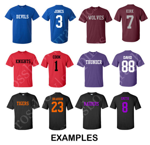 f789978c5 CUSTOM T-Shirt JERSEY Personalized MANY COLORS Your Name Number   Team!
