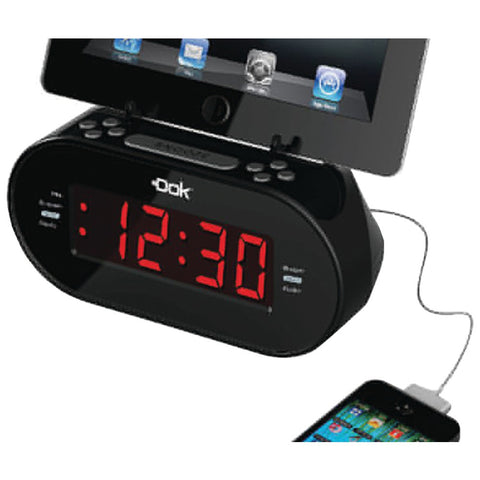 DOK CR09 Universal Dual Charger with Alarm Clock & Cradle