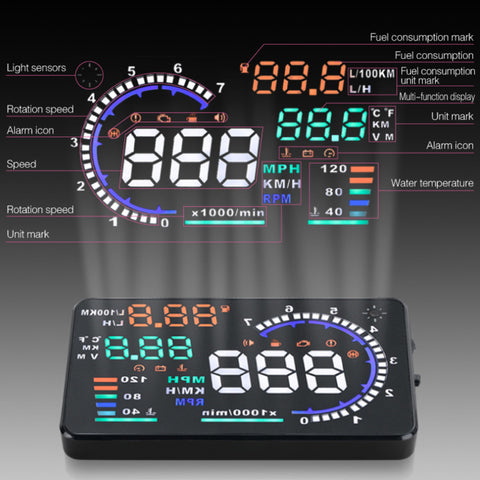 Car styling Universal Car hud head up display