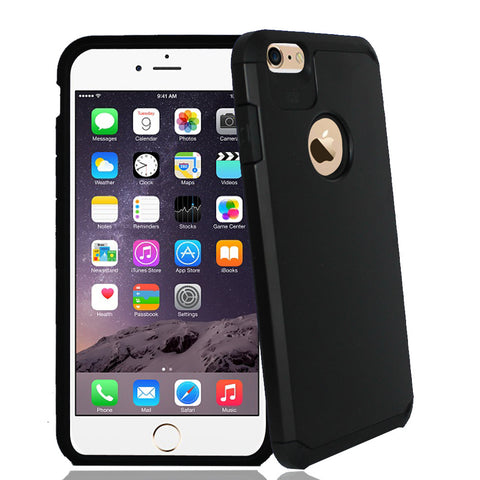 IPhone 6 / 6S Plus TPU Slim Rugged Hard Case Cover Black