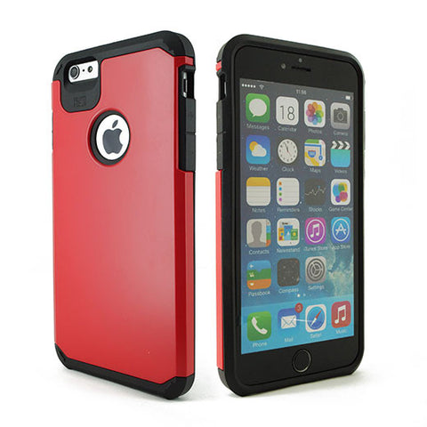 IPhone 6 / 6S Plus TPU Slim Rugged Hard Case Cover Red