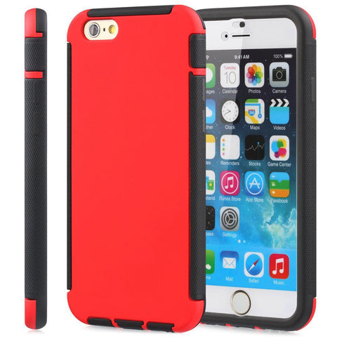 IPhone 6 / 6S Plus Dust Dirt Shock Proof Full Body Case Cover Red