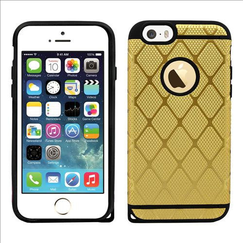 IPhone SE / 5S Rugged Rubber Protective Case Cover Gold