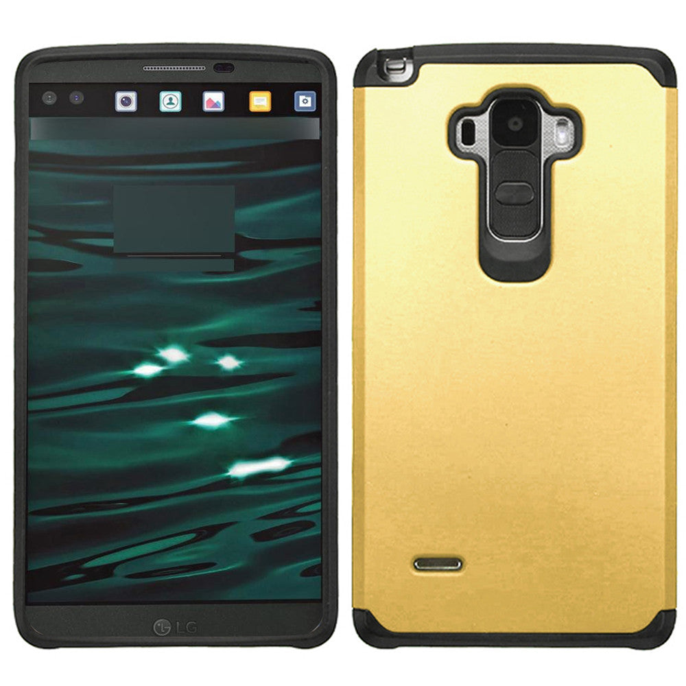 LG V10 TPU Slim Rugged Hard Case Cover Gold