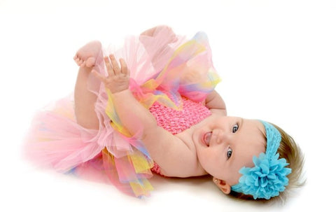 Pastel Rainbow Tutu Set - Tutu, Crochet Top & Headband