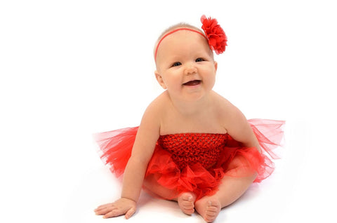 All Red Tutu Set - Tutu, Crochet Top & Headband