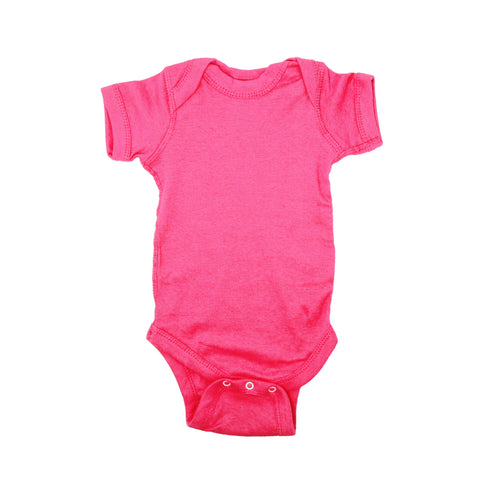 Colorful Short Sleeve Cotton Bodysuits