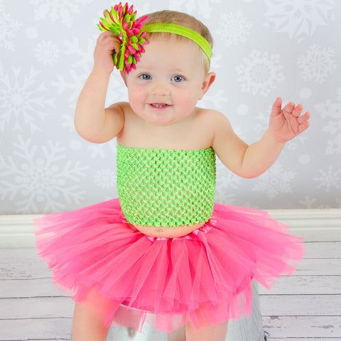 Hot Pink & Lime Sweetie Pie Tutu Set - Tutu and Top