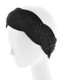Womens Braided Crochet Head Wrap Bead Embellishments