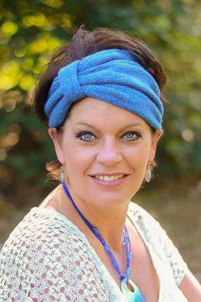 Womens Sparkly Crochet Head Wrap