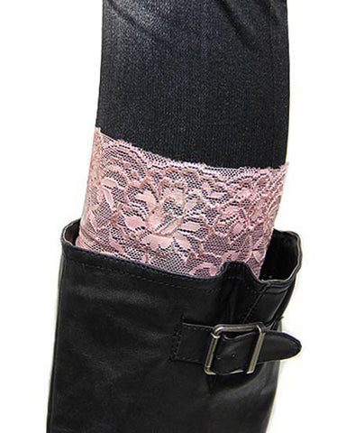 Womens Sheer Lace Boot Cuffs