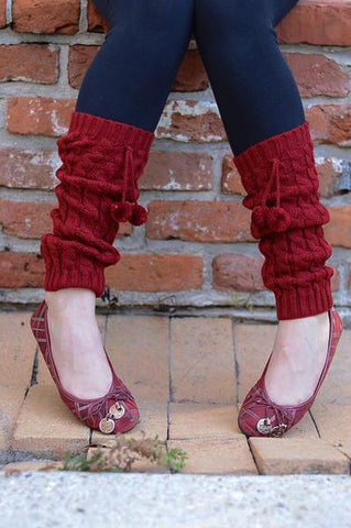 FREE - Women's Crochet Boot Cuff Legwarmers with Pom Poms
