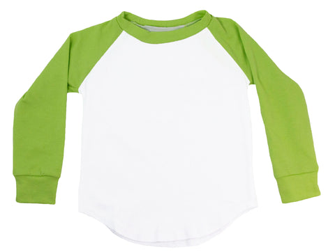 Long Sleeve Raglan T-Shirt - Lime