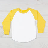 Long Sleeve Raglan T-Shirt - Yellow