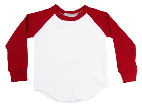 Long Sleeve Raglan T-Shirt - Red