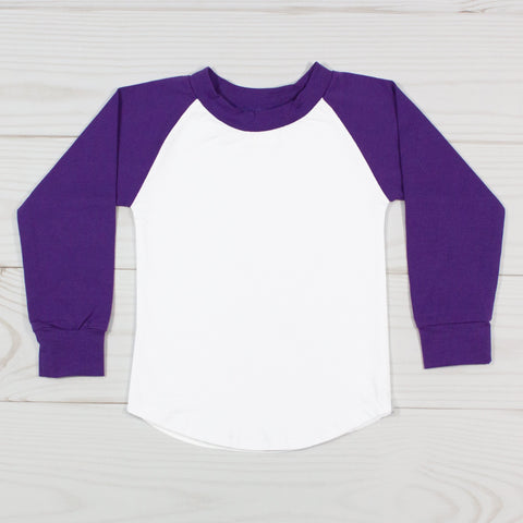 Long Sleeve Raglan T-Shirt - Purple