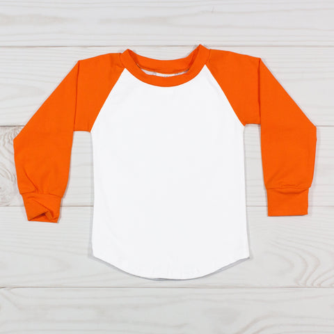 Long Sleeve Raglan T-Shirt - Orange