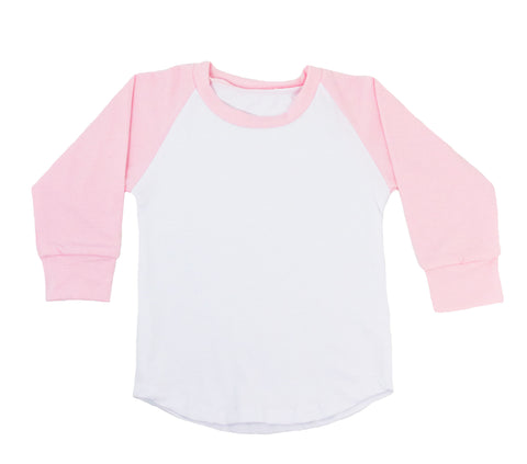 Long Sleeve Raglan T-Shirt - Pink