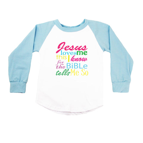 Jesus Loves Me Raglan T-Shirt