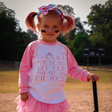 And Though She Be... Raglan T-Shirt & Tutu Set