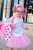 Uptown Girl Raglan T-Shirt, Pink Sparkle Tutu, Headband Set