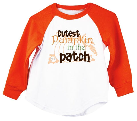 Cutest Pumpkin In The Patch Raglan T-Shirt
